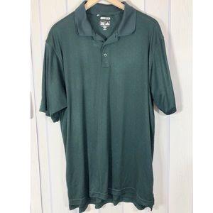 ! adidas ClimaCool Green Polo Men XL Short Sleeve